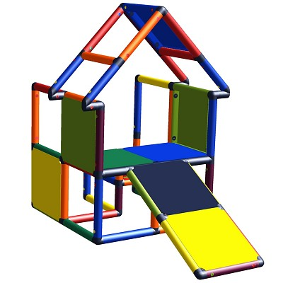 Moveandstic Noel - house with toddlers slant multicolor