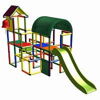 Moveandstic Linus - church tower with slide and bell multicolor