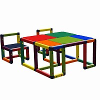 Moveandstic Roya - children table with 2 chairs multicolor