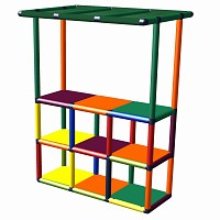 Moveandstic for role play - market stall, shop, shelves with roof, toy shop