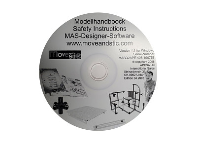 Moveandstic construction program CD