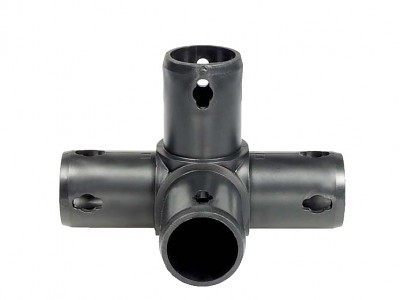 Moveandstic 4 way connector, black