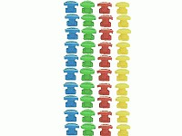 Moveandstic tube clips, set with 40 clips